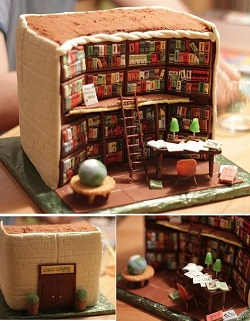 library cake 2